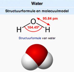 Molecuulmodel van water